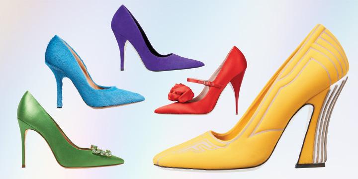 관능적인 실루엣과 경쾌한 컬러를 탑재한 펌프스로 발끝에 포인트를 더하라.