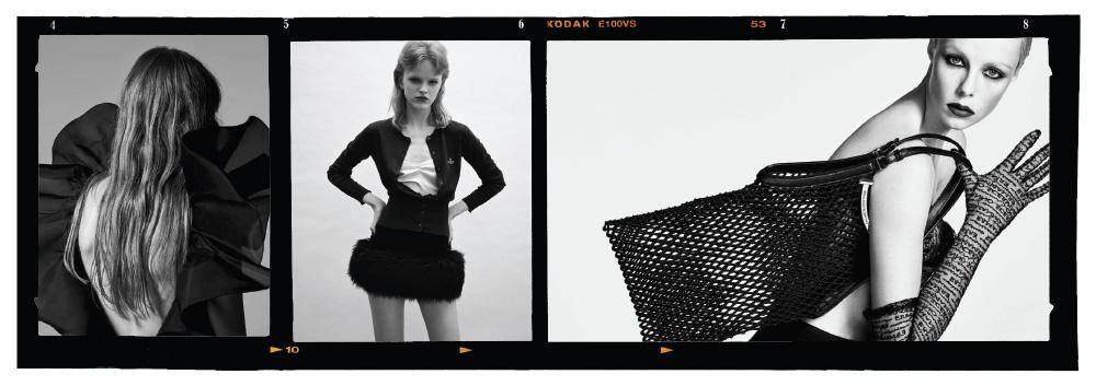 (왼쪽부터)에디 슬리먼이 촬영한 셀린 2019 S/S 광고.안젤로 페네타의 필름 작업, ((2018).에르마노 설비노의 새 시즌 광고 비주얼. 칼 라거펠트가 촬영한 샤넬 2019 S/S 캠페인.