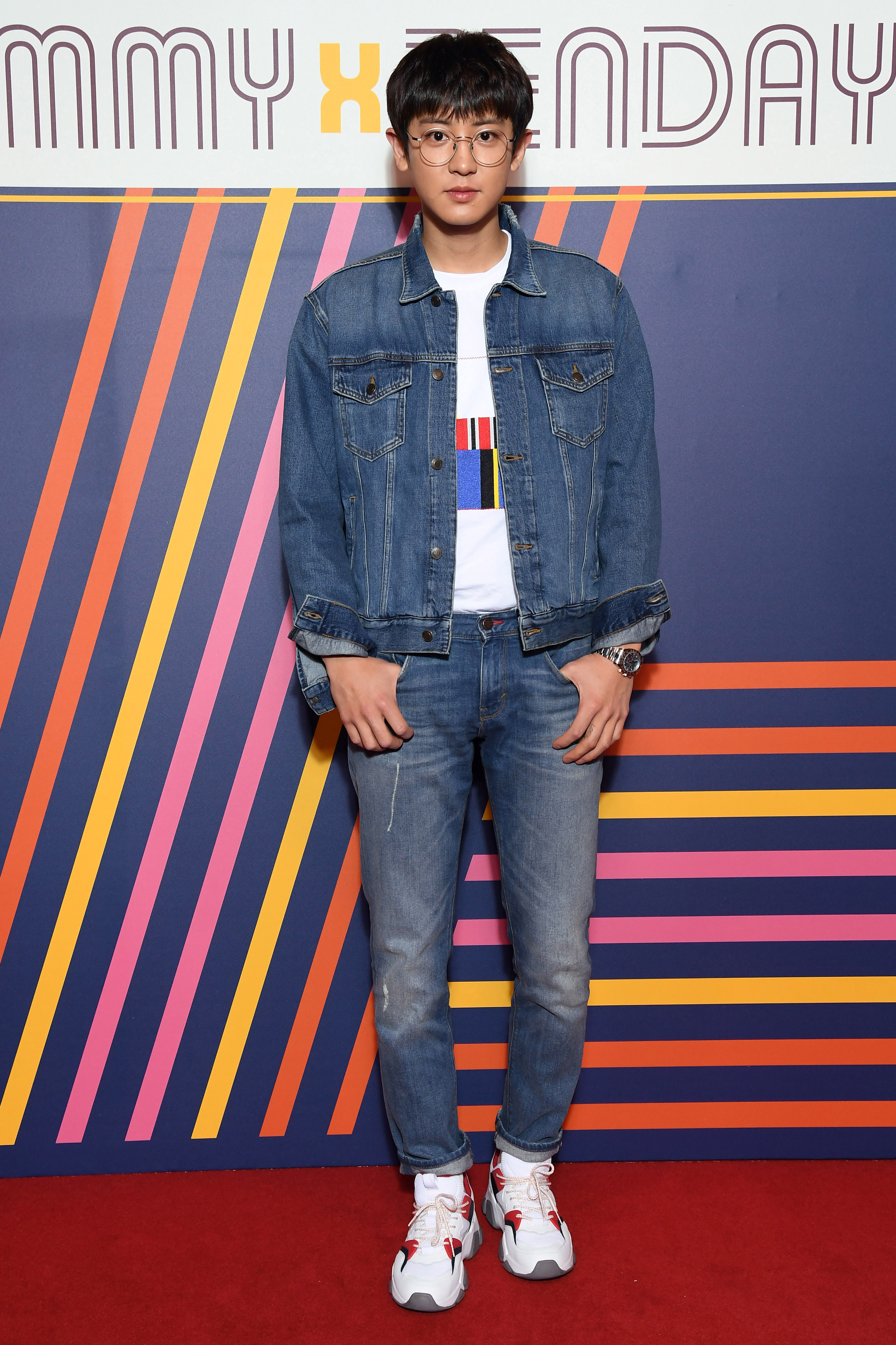 PARIS, FRANCE - MARCH 02: Chanyeol Park attends the Tommy Hilfiger TOMMYNOW Spring 2019 : TommyXZendaya Premieres at Theatre des Champs-Elysees on March 02, 2019 in Paris, France. (Photo by Pascal Le Segretain/Getty Images For Tommy Hilfiger)