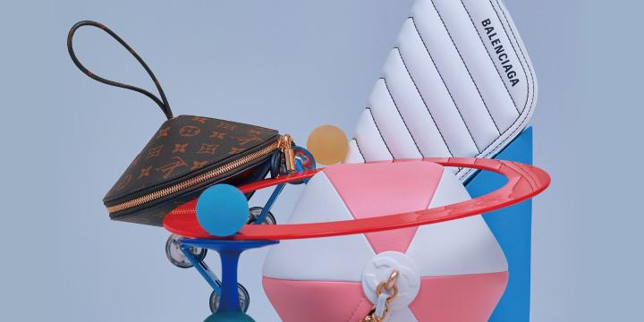 원, 마름모 등 도형이 연상되는 가방으로 스타일에 위트를 더하자.