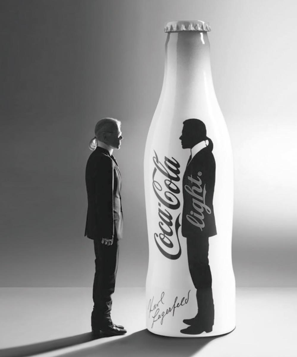 칼이 모델이 된 코카콜라 라이트 캠페인.