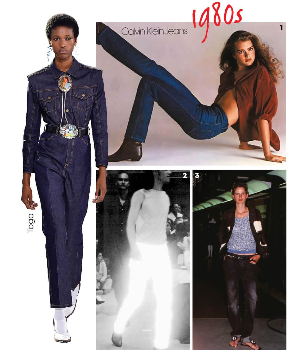 1 1980년 리처드 애버던이 촬영한 브룩 실즈.2 헬무트 랭의 1990년대 광고 캠페인 중 하나.3 보이시한 매력의 스텔라 테넌트.
