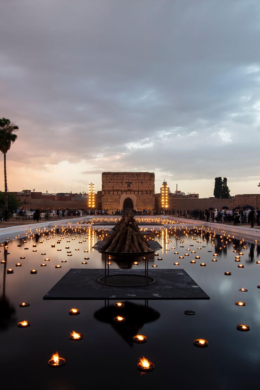 모로코 마라케시에 위치한 엘 바디 궁전