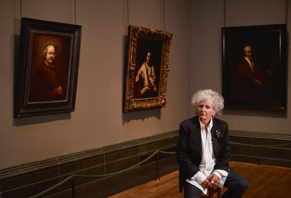 런던 내셔널 갤러리, 렘브란트(Rembrandt)의 'Self Portrait at the Age of 63'(1669)와 함께