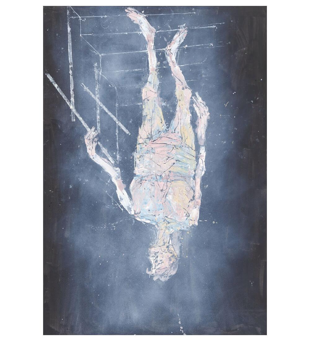 게오르크 바젤리츠, 'Ankunft (Arrival)', 2018, 캔버스에 유채,  440×300cm. Private Collection © Georg Baselitz Photo: Jochen Littkemann, Berlin