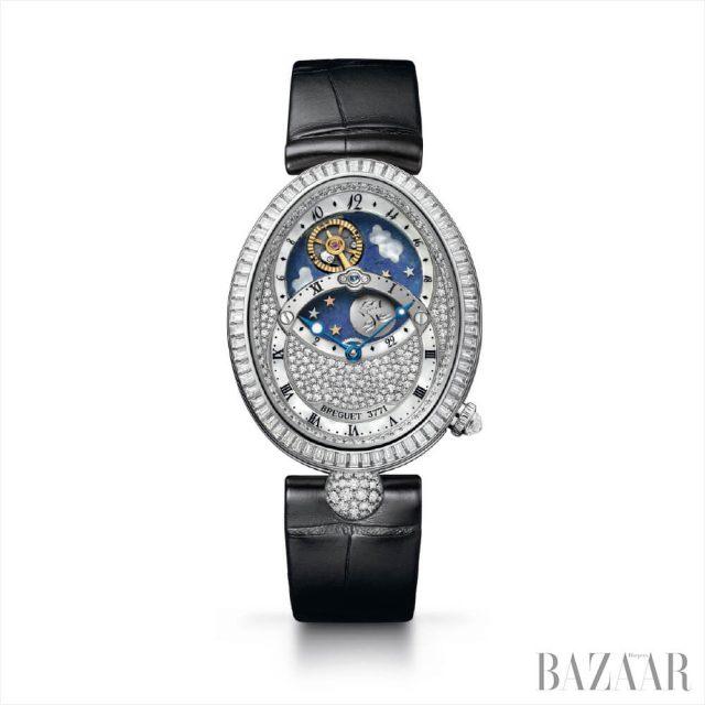 '레인 드 네이플 데이/나이트 8999 오트 조알러리' 시계는 Breguet.