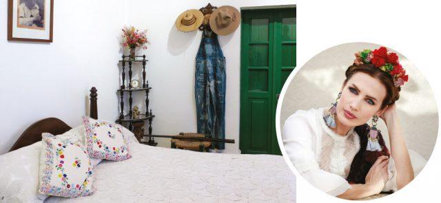 (왼쪽부터)박물관으로 탈바꿈한 프리다 칼로 생가의 방들.프리다 칼로처럼 꾸민  스페인 에디터 니에베스 알바레스.