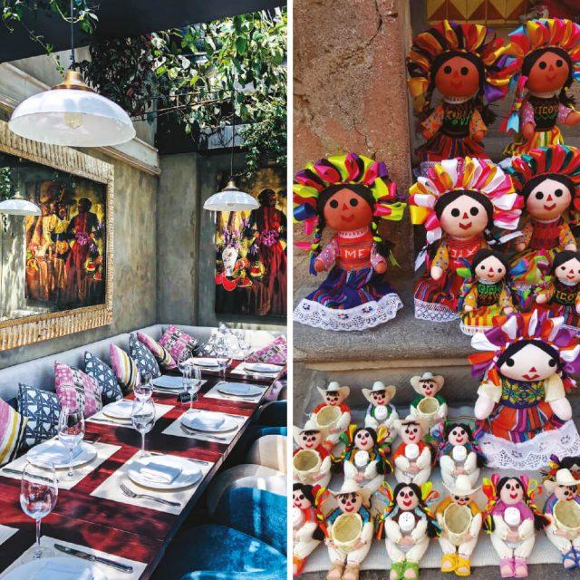 (왼쪽부터)폴랑코 지구에 있는 레스토랑 라 우니카.멕시코의 전통 인형 마리아(Maria).