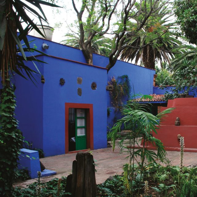 프리다 칼로의 생가인 블루하우스는 코요칸 지구에 위치해 있다. 블루하우스는 그녀가 죽은 후 4년이 지난 1958년, 칼로의 귀중한 물건들을 관람할 수 있는 박물관이 되었다.