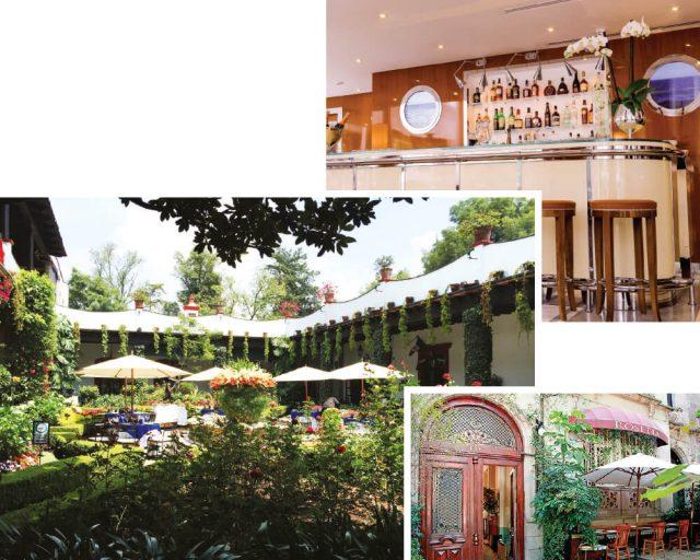 (위부터)이탤리언 레스토랑 시프리아니(Cipriani).정원이 아름다운 레스토랑 산 앙헬 인.정감 있는 레스토랑 로세타.