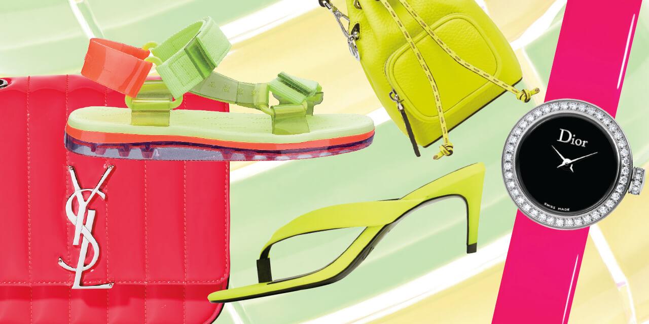 빛으로 어둠을 밝히듯, 당신의 스타일 지수를 환하게 밝힐 네온 컬러로 여름 패션에 에너지와 존재감을 더하자.