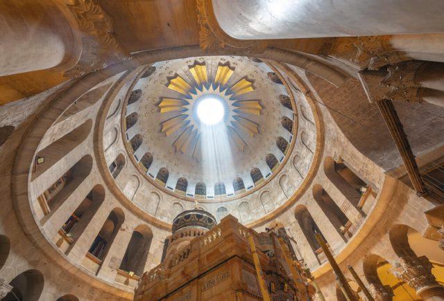 감람산(Mount of Olives)에 있는 러시아 정교회.