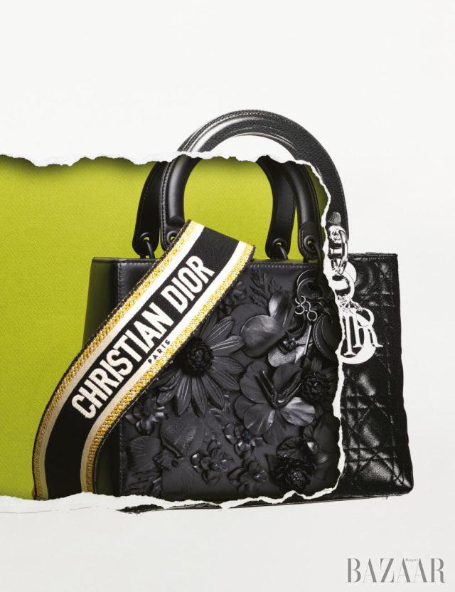 아플리케 장식의 레이디 디올 백은 가격 미정 Dior.