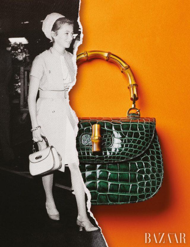 이그조틱 스킨의 뱀부 백은 4천2백만원대 Gucci.
