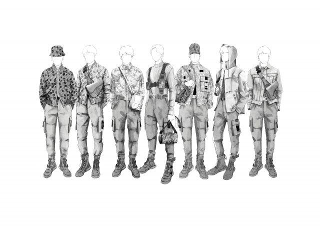 킴 존스가 디자인한 방탄소년단 투어 의상