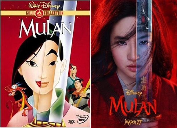 애니메이션 '뮬란'(1998) 포스터 / 영화 '뮬란' 포스터